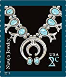INDIAN ~ NAVAJO JEWELRY #3750 Pane of 20 x 2 cents US Postage Stamps