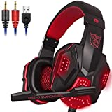 HM2 Comfortable PS4 Gaming Headset, 7.1 Surround Sound Gaming Headset, 3.5Mm Stereo Noise Reduction - for PC Gaming,A3