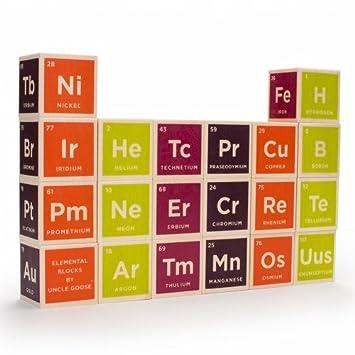 Uncle goose periodic table building blocks amazon baby uncle goose periodic table building blocks urtaz Gallery