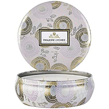 Voluspa Panjore Lychee 3 Wick Tin Candle, 12 ounces