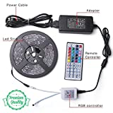 LED Strip Lights - Waterproof Led Tape Lights - Dimmable Multicolored LED Lights Kit 32.8ft/10m, 300LEDs, 5050RGB with 44Key Remote Controller and Power Adapter for Home, Kitchen, Cabinet Decoration