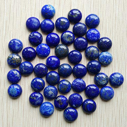 FidgetKute Wholesale 50pcs/lot 12mm Natural Lapis Lazuli Round CAB CABOCHON Stones Beads