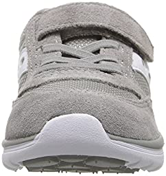 Saucony Unisex Baby Jazz Lite Toddler Sneaker (Toddler/Little Kid/Big Kid), Grey/White, 8.5 XW US Toddler