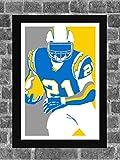 San Diego Chargers LaDainian Tomlinson Sports Print Art 11x17