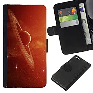 All Phone Most Case / Oferta Especial Cáscara Funda de cuero Monedero Cubierta de proteccion Caso / Wallet Case for Apple Iphone 5C // Saturn Rings Red Galaxy Star Cluster Dust Planet