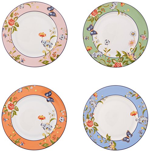Belleek Cottage Garden Mixed Plates, Multicolor