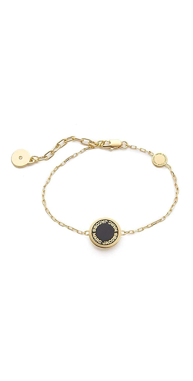 c3a055474e199 Marc Jacobs Enamel Logo Disc Bracelet: Amazon.in: Jewellery