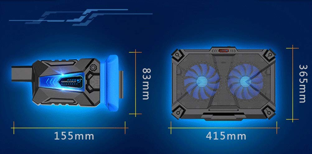 Ho,ney Notebook Cooler - Simple Home Radiator Computer Cooling Bracket Cooling Fan Base 15.6-inch Radiator Durable -1053 Notebook Cooler by Ho,ney (Image #2)