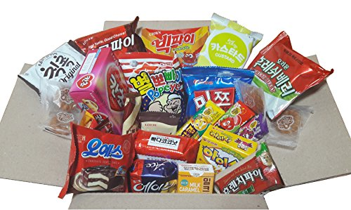 Sweet Korean Snack Box (22Type 25EA)/Various Korean snacks, Chips, Cookies, Candy, Ramen/Gift package (Box Candy Sweet)