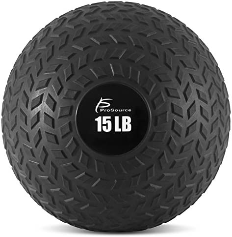 ProSource Fit Slam Medicine Balls 5, 10, 15, 20, 25, 30, 50lbs Smooth and Tread Textured Grip Dead Weight Balls for Crossfit, Strength and Conditioning Exercises, Cardio and Core Workouts