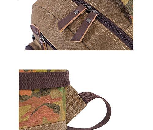 ZYXCC Männer Camouflage Rucksack Rucksäcke Usb Leinwand Retro-Freizeit-Rucksack Herrenreise Rucksack Computer Tasche (vier Farben) 3 GPZAFc2cYB