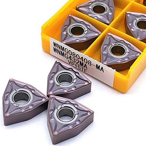 10pcs WNMG080408 MA VP15TF UE6020 US735 Außendrehwerkzeuge Schneidplatten Schneidwerkzeug CNC-Werkzeuge Drehmaschine Cutter Werkzeuge Amw (Farbe : WNMG080408 MA VP15TF)