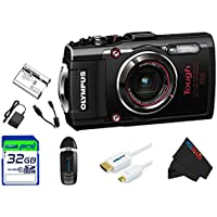 Olympus OLYTG4BL-32GB4PC Stylus 16 Waterproof Digital Camera with 4x OIS Zoom, 3