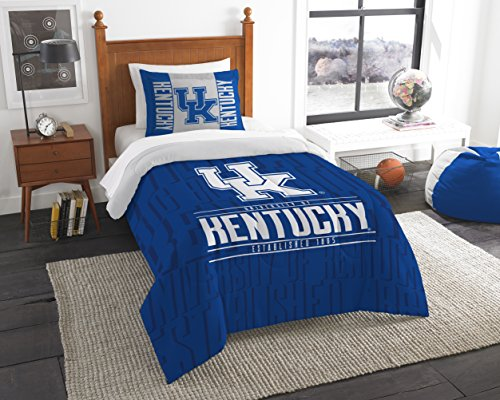 The Northwest Company Officially Licensed NCAA Kentucky Wilcats Modern Take Twin Comforter and Sham