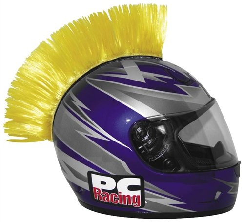 Peel n Stick Mohawk Yellow (ea) for any Helmet By PC Racing (PCHMYELLOW)