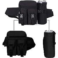 Mochila para Cangurera Cangureras de Senderismo Bolso de Cintura para Corer y Aire libre Waist Pack Bag Sostenedor de Botella Bolsas Outdoor Hiking Fishing Caming Bags