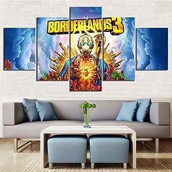 5 Pièces Haute Définition Dessin Animé Des Photos Borderlands 3 Jeu Vidéo Affiche Décoratif Peintures Ouvrages D Art Toile Pour Décoration De Maison