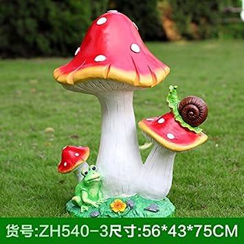 SQBJ The Simulation Of Large Mushroom Plant Decoration Shun Garden  Sculpture Outdoor Gardens And Landscape Decorative