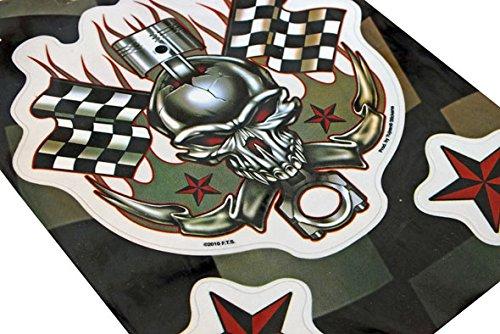 YUJEAN Sticker - Pegatinas para Moto, Coche, Cascos ecc: Amazon.es: Coche y moto