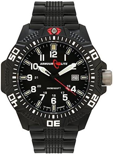 Armourlite Caliber Series Polycarbon Tritium Watch Black Steel Band