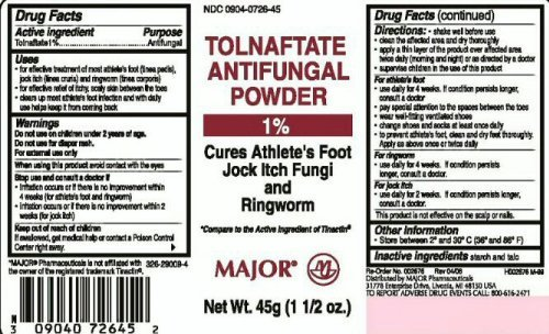 3 [PACK] TOLNAFTATE ANTIFUNGAL POWDER 1% 45GM *COMPARE TO THE SAME ACTIVE INGREDIENT FOUND IN TINACTIN® AND SAVE!!!*