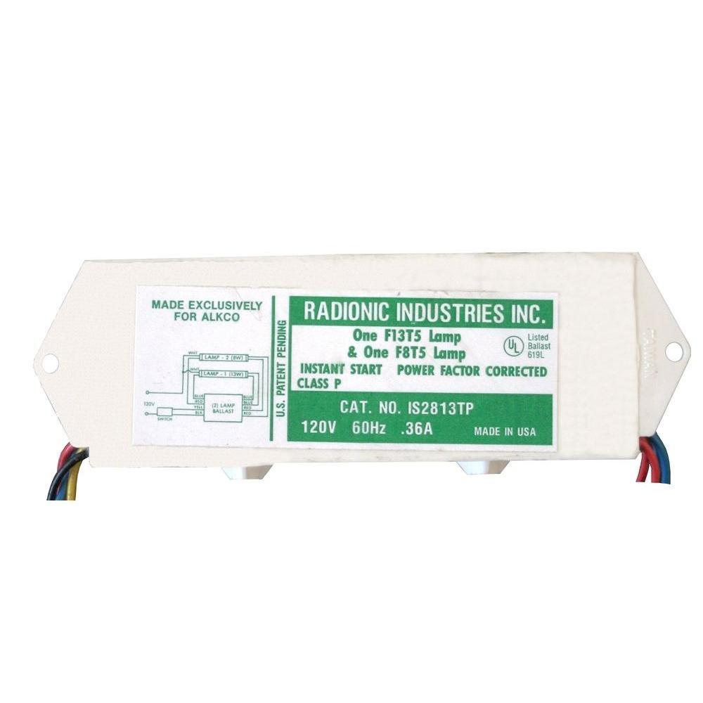 Radionic Hi Tech Inc IS2813TP 8 and 13-Watt T5 Lamp Normal Power Factor Magnetic Ballast