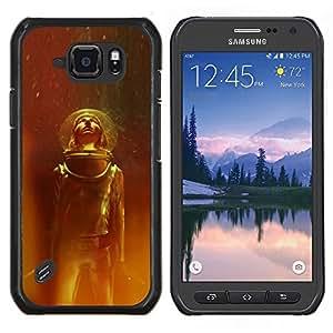 TECHCASE---Cubierta de la caja de protección para la piel dura ** Samsung Galaxy S6 Active G890A ** --Traje espacial Viajes Estrellas Universo Casco Cosmos