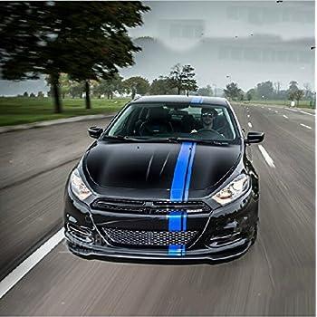 Amazoncom DOKOT Blue Vinyl Racing Stripe Decal Sticker For - Cool car decals designcar foil hood stickerscustom car body side sticker design buy
