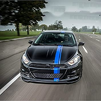 Amazoncom DOKOT Blue Vinyl Racing Stripe Decal Sticker For - Sport decal stickers for cars