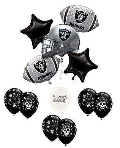 Oakland Raiders Football Fan Balloon Bouquet Bundle