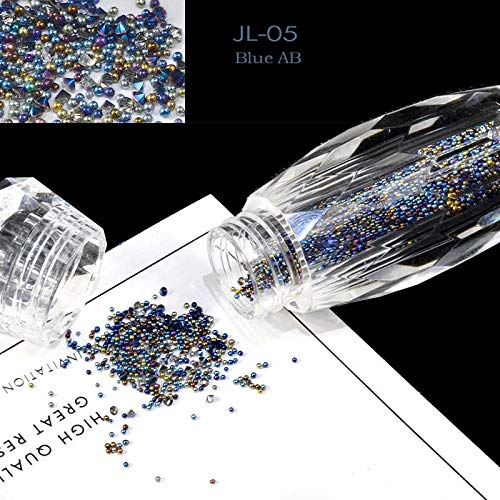 Pressed Marble Glass (1 Bottle Mini Caviar Beads Crystal Tiny Rhinestones Glass Micro Bead For Nails DIY Colorful Glitter Nail Art Decorations JL 05)
