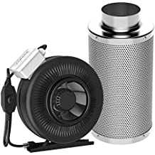 VIVOSUN 8 Inch 740 CFM Inline Duct Fan with 8 Inch Carbon Filter Odor Control with Australia Virgin Charcoal