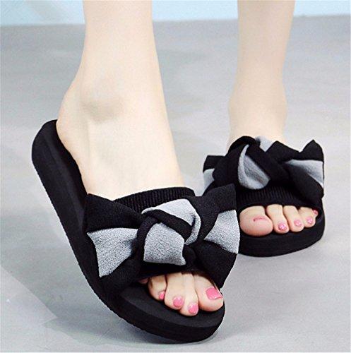 FLYRCX Señoras antideslizante exterior frío verano zapatillas zapatillas de playa de moda casual de mano a