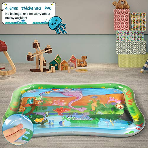 with 6 Sensory Toys for Infant and Toddler Lupantte Visual Cognitive Developmental Baby Play Gym Larger Hearing Non Slip Thicker Baby Play Mat with 2 Replaceable Washable Mat Covers Touch