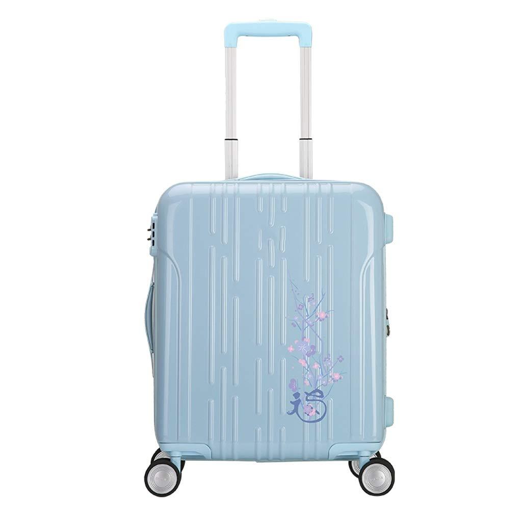 ZHAOSHUHLI スーツケースの荷物の拡張可能な大容量は4つの円形のRavelのトロリー箱が付いているトロリー箱を増加させます (Color : Blue, Size : 20 inches) B07QZK77DR Blue 20 inches