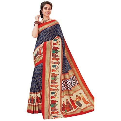 2888 Diseñador di donne Vestito EMPORIUM culturale Sari delle ETHNIC etnico tradizionale Sari tradizionale stampato di seta di di n4TWX5x8