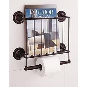 Bathroom Magazine Rack Toilet Paper Holder And Accessory Holder Home Kitchen