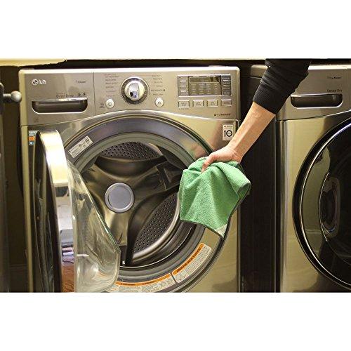Cedar Creek 12''x16'' Premium Plush Microfiber Cleaning Cloths, Professional Grade, Green, 144 Case Value Pack by Cedar Creek (Image #9)