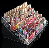 1-Racks Cute Popular New Nails Polish Organizers Cosmetics Storage Travel Cases Cube Gift Color Transparent 6 Tier Style #12