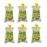 Rescue! BFTD Disposable Big Bag Fly Trap, Outdoor Non-Toxic Mode Of Action, Fast-Acting Fly Attractant Holds Upto 40,000 Flies (Pack of 6)
