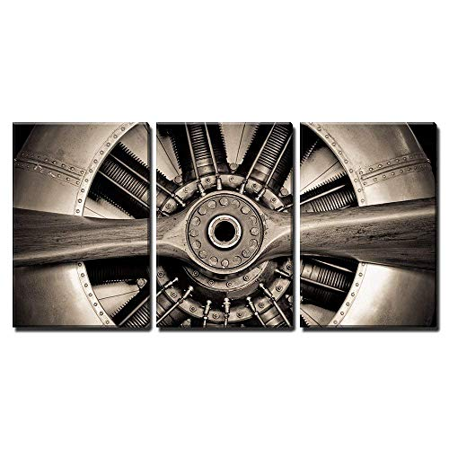 wall26 - Vintage Propeller Aircraft - Canvas Art Wall Decor - 24