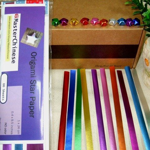 MasterChinese Origami Stars Papers Package - Platinum (With Instruction) - 10 Colors - 300 Sheets