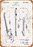 Markil Electric Guitar Patent Wall Decoration Retro Vintage Tin Sign for Bar Coffee Cafe Afternoon Tea Barbecue Shop