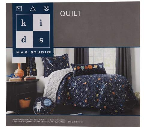 Max Studio Kids 5-pc Planets Space Quilt Blanket & Sheet Set - Full Size Set (5-pc Set)