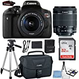 Canon EOS Rebel T6i 24.2MP DSLR Camera Bundle (Wi-Fi) with Canon EF-S 18-55mm f/3.5-5.6 IS STM Lens + Canon Camera Bag + 32GB Memory Card + Canon Deluxe Camera Bag + 50 Tripod + Camera Starter Kit