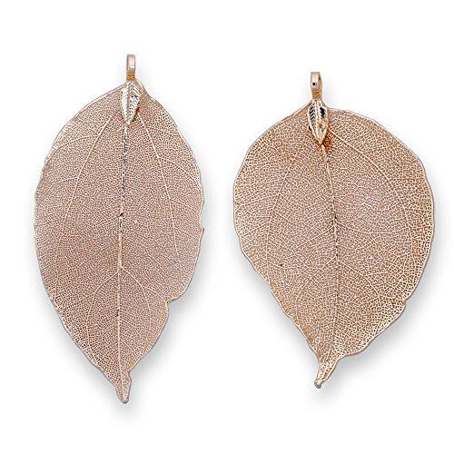 - 2pcs Natural Leaf pendant,Botanical jewelry,Filigree Leaf Charm Natural Real Leaf jewelry making,gold