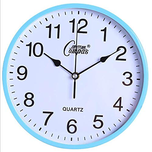 ZAQXSW Teaching Clock with Silent Movement | Educational Clock That Makes Kids Learning Time Faster and Fun. Quiet Child Wall Clock Perfect for Parents and Teachers, Kids Bedroom or Classroom. ()