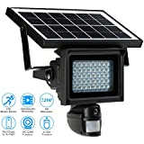 KKmoon Solar Floodlight Camera & light with 40 IR LEDS 720P HD CCTV Security Camera DVR Recorder PIR Motion Detection Solar Energy Charge Support PC-CAM TF Card