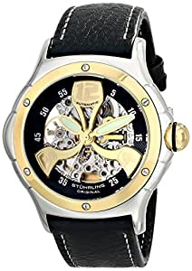 """Stuhrling Original Men's 4AT.332530 """"Champion Alpine"""" 18k  Gold and Steel Automatic Watch"""