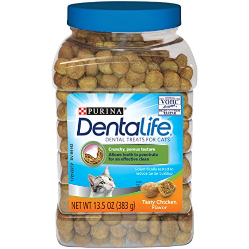 Purina DentaLife Made in USA Facilities Cat Dental Treats; Tasty Chicken Flavor - 13.5 oz. Canister